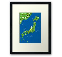 cartoon map of japan Framed Print