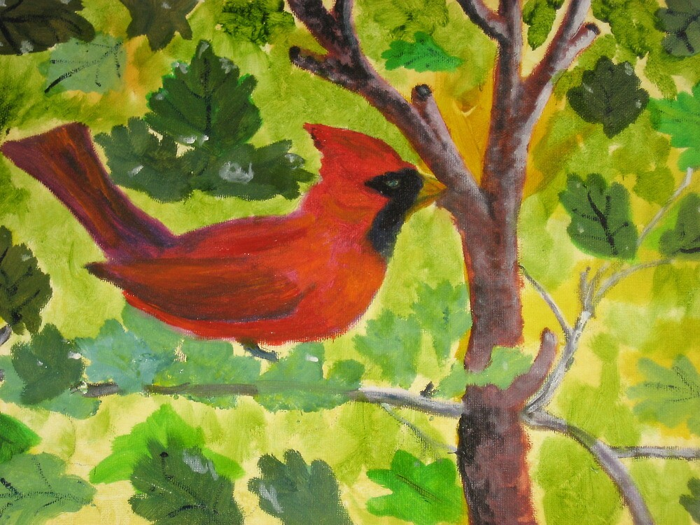 Cardinal standing guard. by rreily