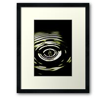 A Drop of Green Framed Print