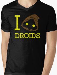 I heart Droids Mens V-Neck T-Shirt