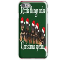 Little Things Make Christmas Special Rottweiler Greetings iPhone Case/Skin