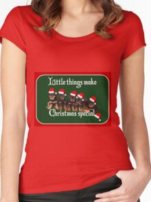 Little Things Make Christmas Special Rottweiler Greetings Women's Fitted Scoop T-Shirt
