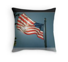 Flag 2 Throw Pillow