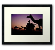 Pushkar Sunset Framed Print