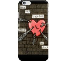 Injured Heart - Mixed Media Art iPhone Case/Skin
