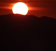 Sunset In Red - Puesta Del Sol En Rojo by Bernhard Matejka