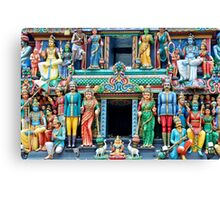 Indian Hindu Temple in Singapore Canvas Print