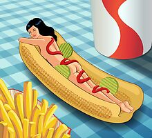 Hot Dog Girl by wendyding