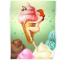 Ice Cream Girl Poster