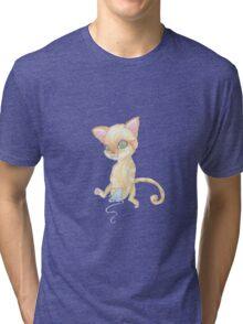 kitten and yarn Tri-blend T-Shirt