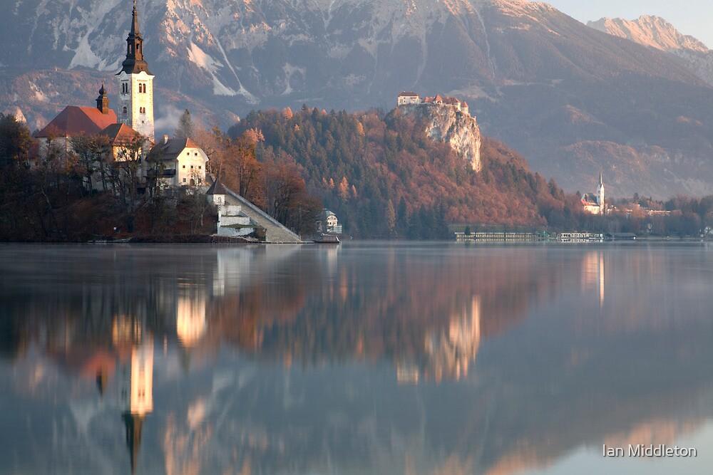 Morning at Lake Bled by Ian Middleton