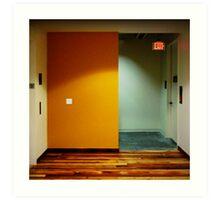 Yellow Exit Art Print