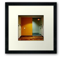 Yellow Exit Framed Print