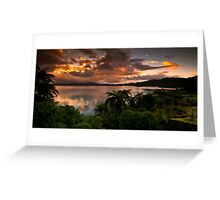 Tarawera Sunrise 16 december 2011 Greeting Card