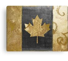 Canada Flag Fashion Gold Canvas Print