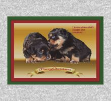 I Know Where She's Hidden The Presents Rottweiler Puppy Christmas Wishes One Piece - Short Sleeve