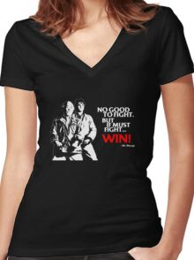 Karate Kid - No Good to Fight Women's Fitted V-Neck T-Shirt