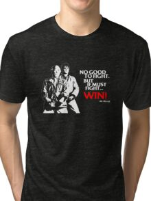 Karate Kid - No Good to Fight Tri-blend T-Shirt