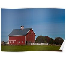 Red Barn In The Willamette Valley Poster