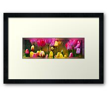Tulips On Silver Framed Print