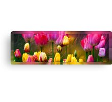 Tulips On Silver Canvas Print