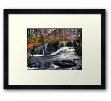 Waterfall - Skowhegan, Maine Framed Print