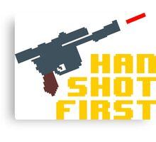 8-bit Han shot first Canvas Print