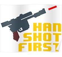 8-bit Han shot first Poster
