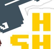 8-bit Han shot first Sticker