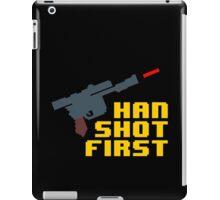 8-bit Han shot first iPad Case/Skin