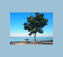 Big tree and the walking path along the lake shore Unisex T-Shirt