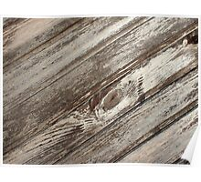 Surface of the old wooden planks brown Poster