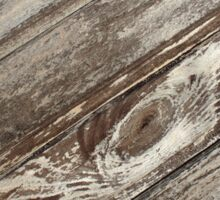 Surface of the old wooden planks brown Sticker