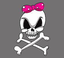 Girls Skull & Crossbones iPhone Case by edzemo