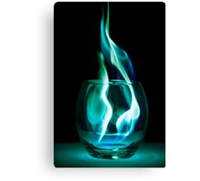 Iced Flames in a Glass Canvas Print