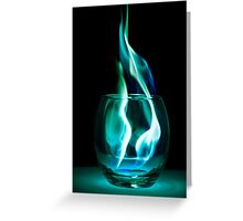 Iced Flames in a Glass Greeting Card