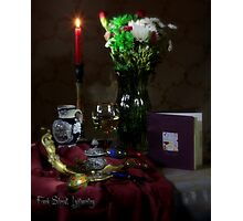 Wine Notes and Christmas Eggs Photographic Print
