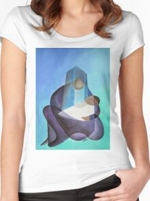 Mary and The Baby Messiah Women's Fitted Scoop T-Shirt
