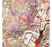 Newark map New Jersey Photographic Print