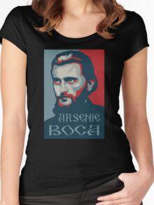 Sfantul Calugar Arsenie Boca Women's Fitted Scoop T-Shirt