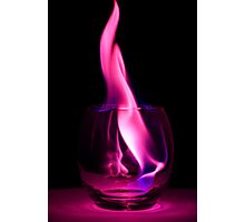Purple Flames in a Glass Photographic Print