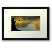 The morning on the lake Framed Print