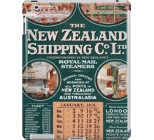 New Zealand Shipping Co. Vintage Poster iPad Case/Skin