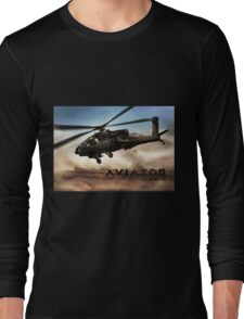 AH-64 Apache Helicopter Long Sleeve T-Shirt