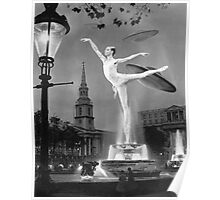 Undefined X File 1959 Over Trafalger Square. Poster