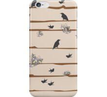 Natural Habitat Bird and Flower iPhone Case/Skin