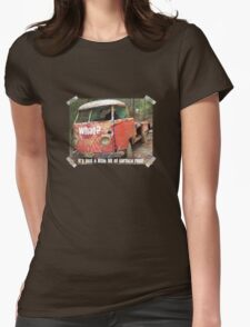 VW Restorer's Mantra - IT'S JUST SURFACE RUST! Womens Fitted T-Shirt