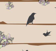 Natural Habitat Bird and Flower Sticker