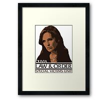 "Olivia ""Liv"" Benson – Special Victims Unit – Law & Order Framed Print"