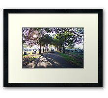 Old 1950s VW Beetle at Cemetery Framed Print